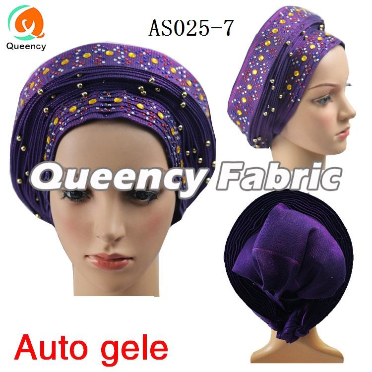 Auto Gele With Beads And Stones